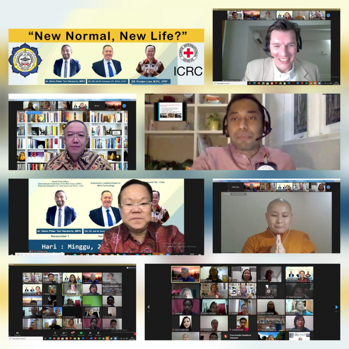 A webinar on the new normal way of living, during the COVID-19 pandemic, was organized by the ICRC and the Buddhist community in Indonesia.