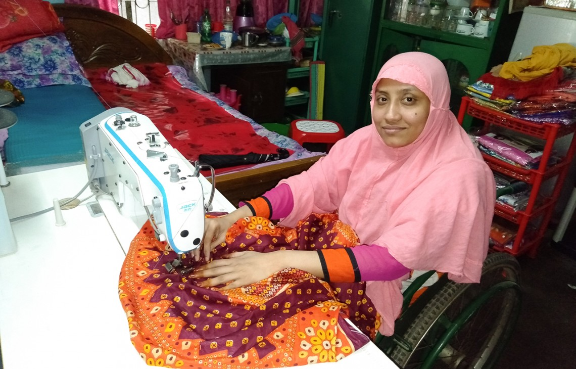 Bangladesh: Tailor to some, tutor to others, she sews up her life with grit