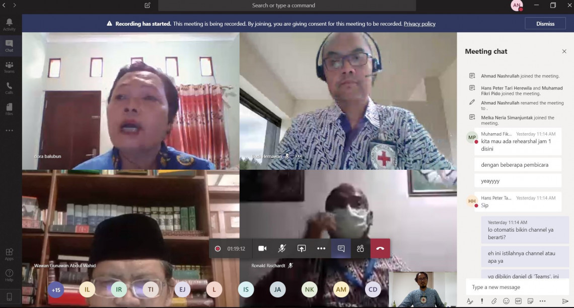 The ICRC organized a webinar on Pandemic Wisdom: The Roles of Religious Leaders in Indonesia during COVID-19.