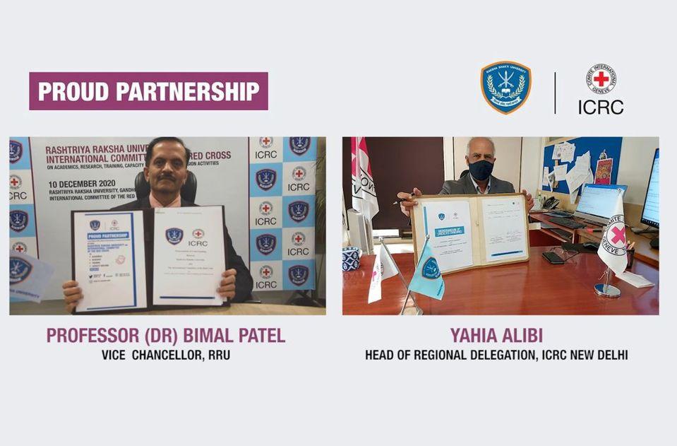 Rashtriya Raksha University, Gujarat and the ICRC signed an MoU