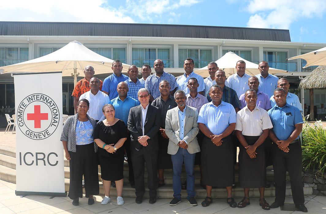 Pre-deployment training to Fiji Corrections staff before leaving for South Sudan