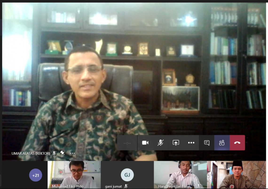 An ICRC Management of the Dead webinar with Alkhairaat University