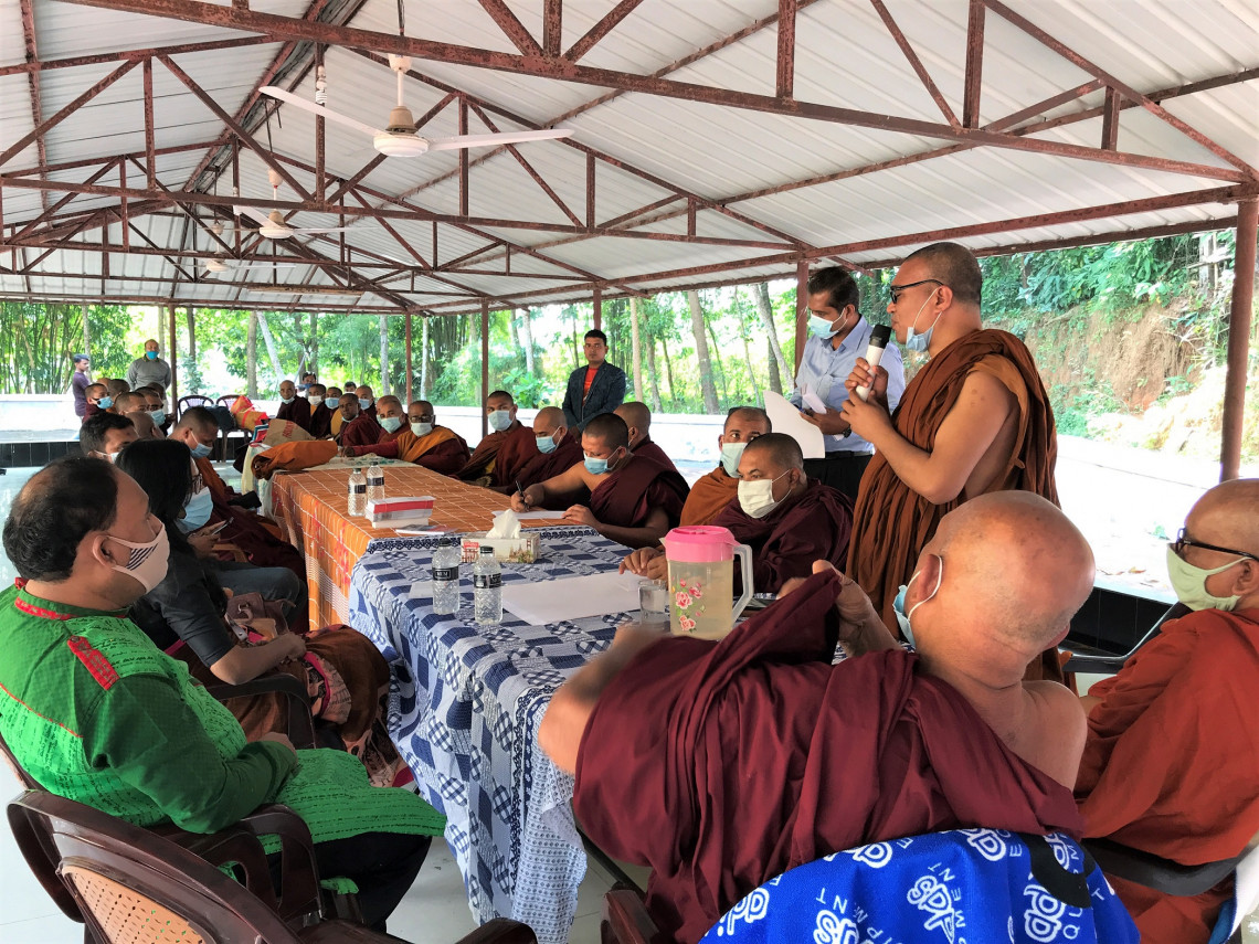 SESSION WITH 31 BUDDHIST MONKS FROM TEKNAF, UKHIYA AND RAMU, BANGLADESH