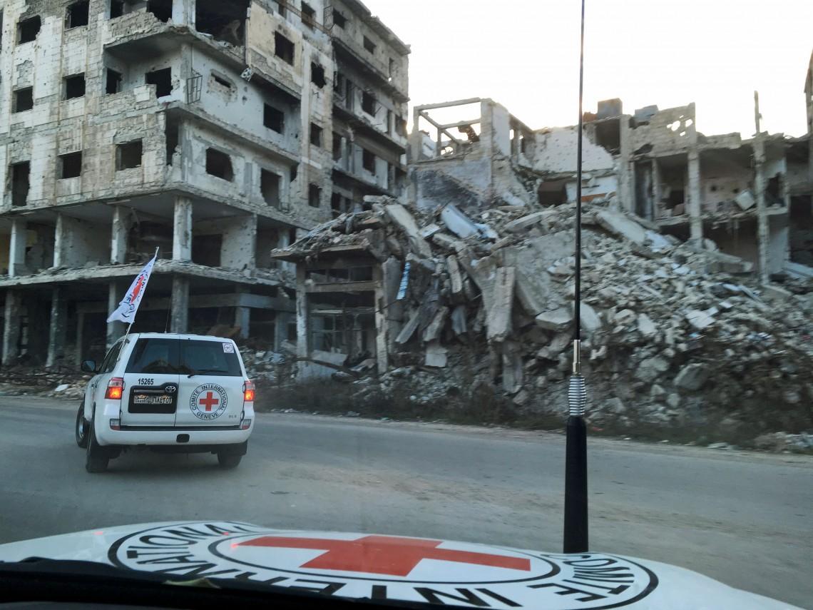 Vue du centre de Homs en Syrie.