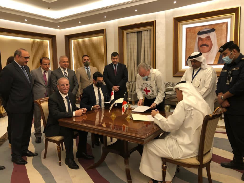 the signing ceremony of the handover operation between Iraq and Kuwait