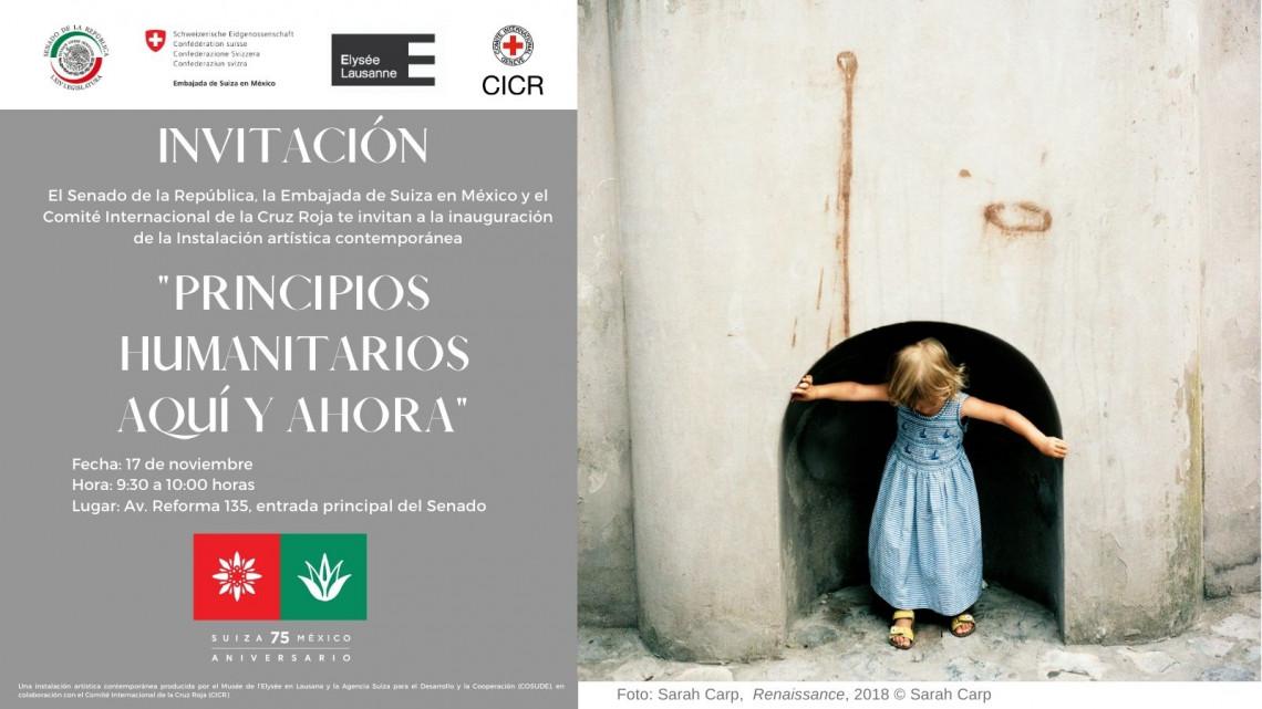 México: instalación artística en el Senado resalta la relevancia de los principios humanitarios para atender las consecuencias de conflictos, violencias y desastres naturales