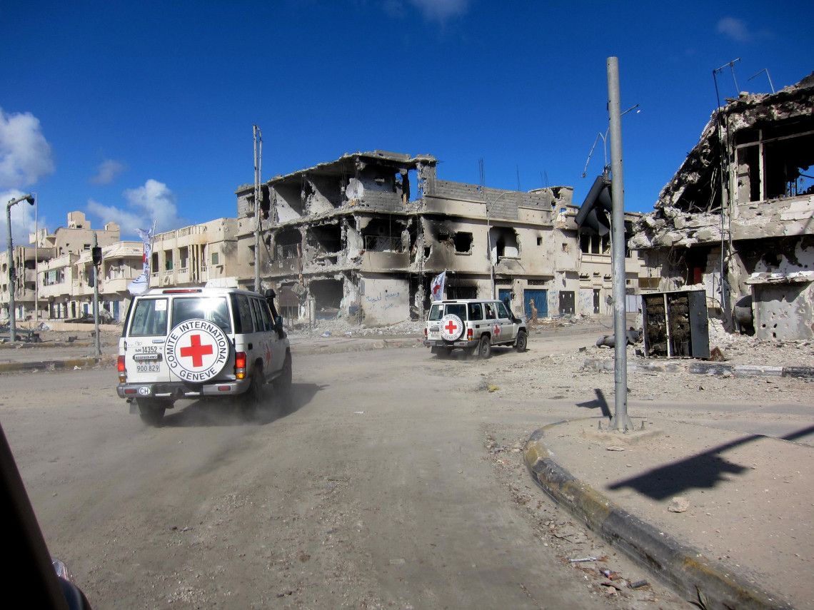 ICRC's Gilles Carbonnier on impact of heavy explosive weapons in populated areas / Younes El Shalwi