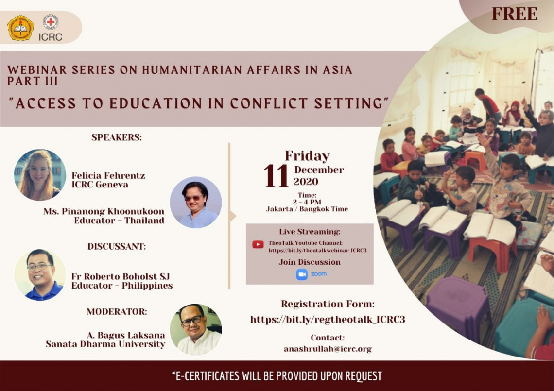 Webinar Series on Humanitarian Affairs in Asia: Access to Education in Conflict