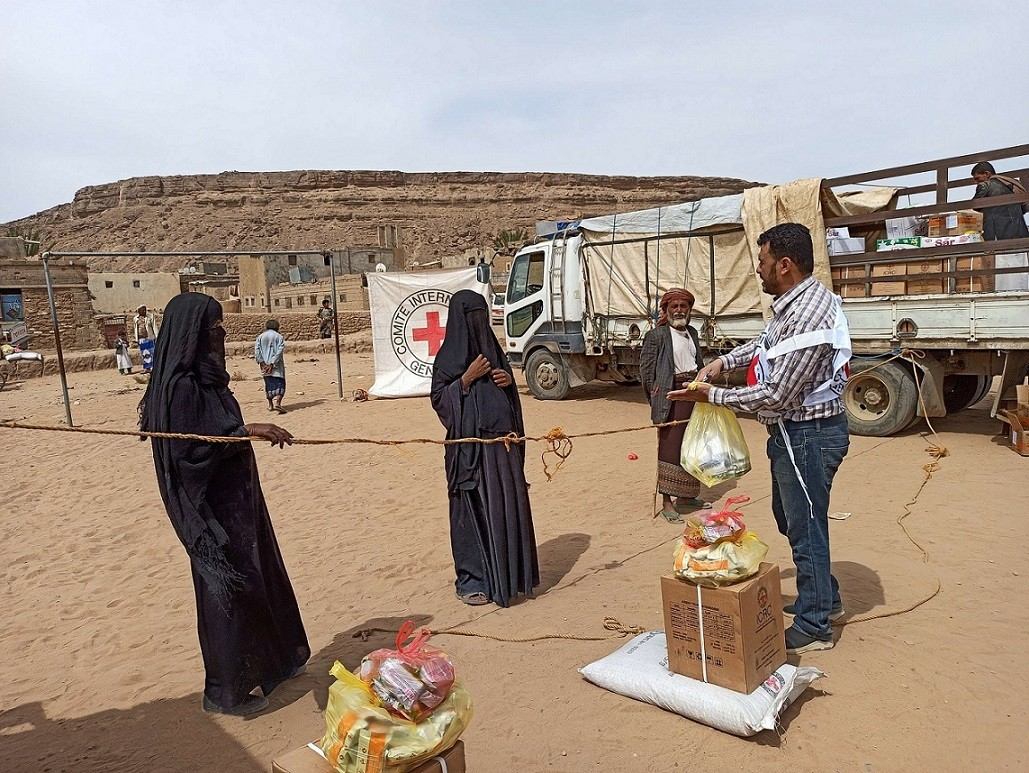 Food distribution in Saada, Yemen. April 2020/ICRC