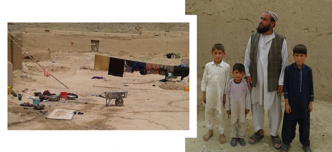 Amir Khan's situation before the ICRC's intervention (left)