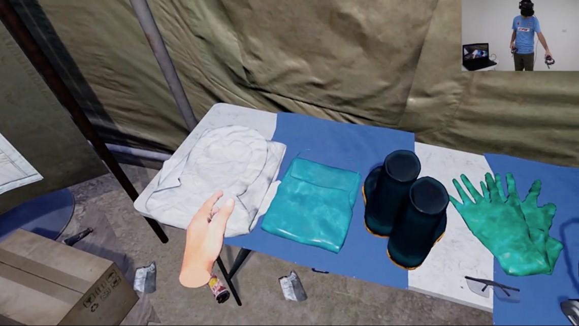 Сцена из VR проекта МККК по подготовке судмедэкспертов.