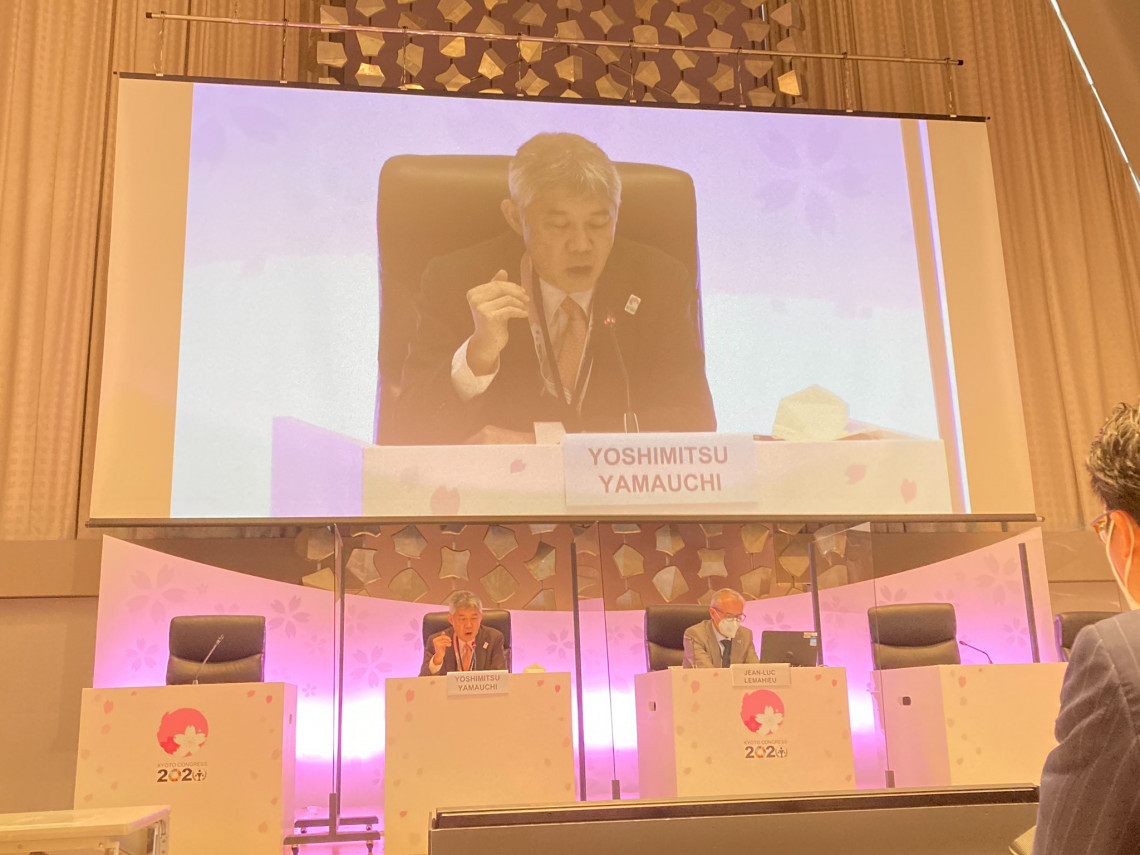 Mr Yoshimitsu Yamauchi, the assistant vice-minister of justice and chief of the Secretariat of the Kyoto Congress on the host-country side. ©Ministry of Justice, Japan