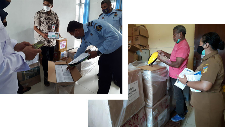 Distribution of hygiene kits and protective equipment in Abepura Penitentiary and Japuraya Hospital