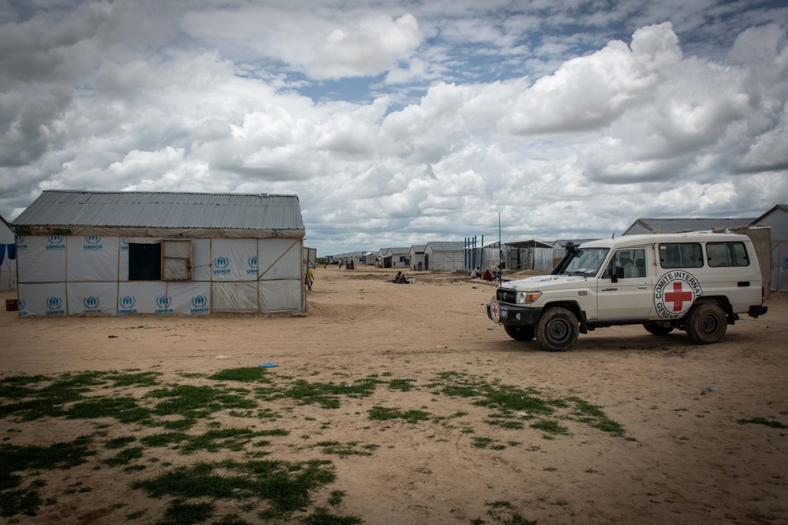 One of the many camps camps in Maiduguri for people displaced by conflict - ICRC/Sam Smith