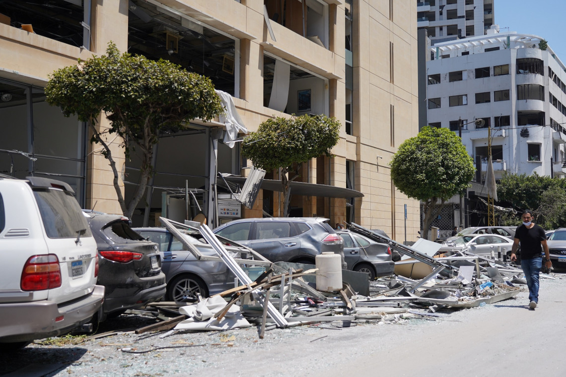 Homes and property were damaged and several areas of Beirut were devastated.