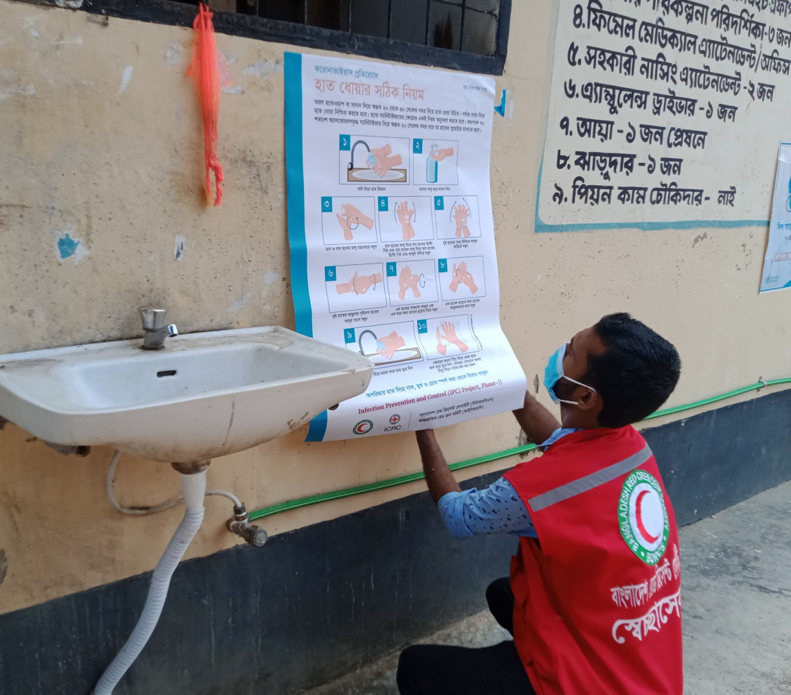 Awareness-raising campaign on COVID-19 health guidelines in 19 communities across three districts of Chittagong Hill Tracts is underway. ICRC