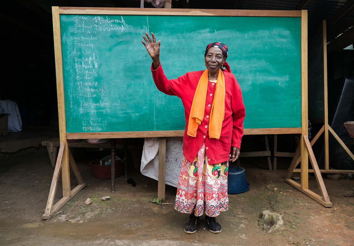 """Edwige, who works tirelessly on behalf of the children in her home, is proud to be able to help them find their way in the world: """"Some of them have become lawyers, teachers or engineers. A disability cannot be an excuse for excluding someone from society."""""""