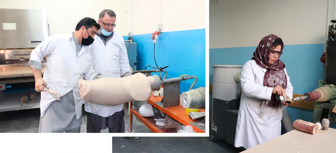 巴达赫尚省,法扎巴德假肢康复中心。 Mohammad Masoud Samimi / ICRC
