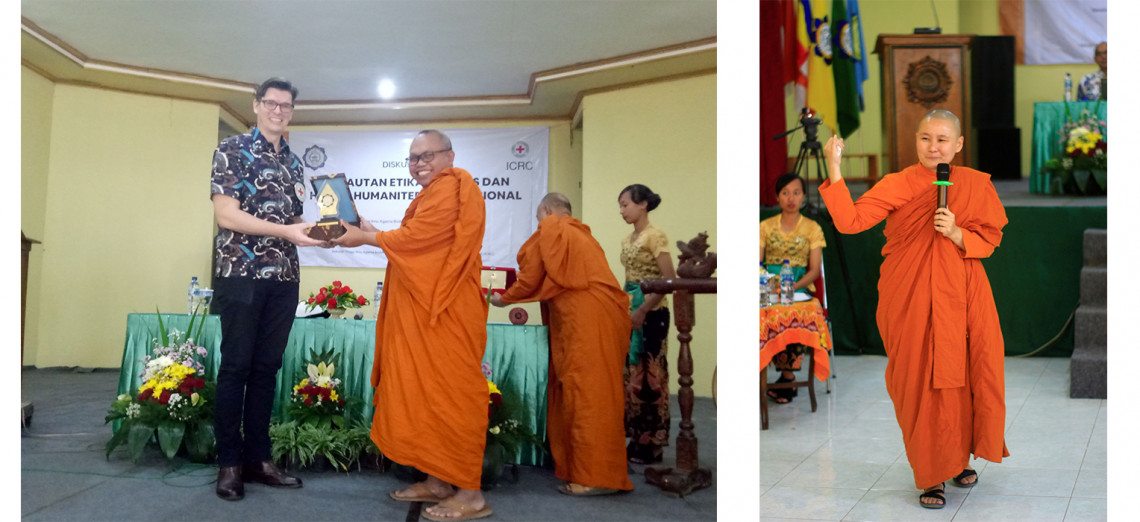 The ICRC and Smaratungga Buddhist College held a Buddhist ethics and IHL seminar