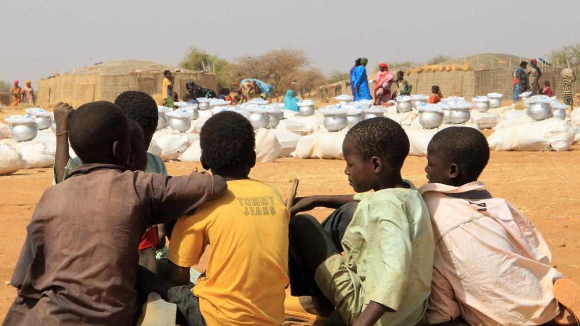 Des enfants dont les parents ont fui Tamkoutat.