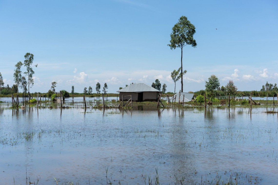 A flooded home in Osodo, Homa Bay, Kenya. In 2019, heavy rains have hit Kenya particularly hard and affected the lives of tens of thousands of people. Photo: Mackenzie Knowles-Coursin / ICRC