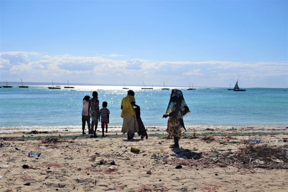 Displaced families from Palma recently arrived in Matemo Island, Cabo Delgado, Mozambique.
