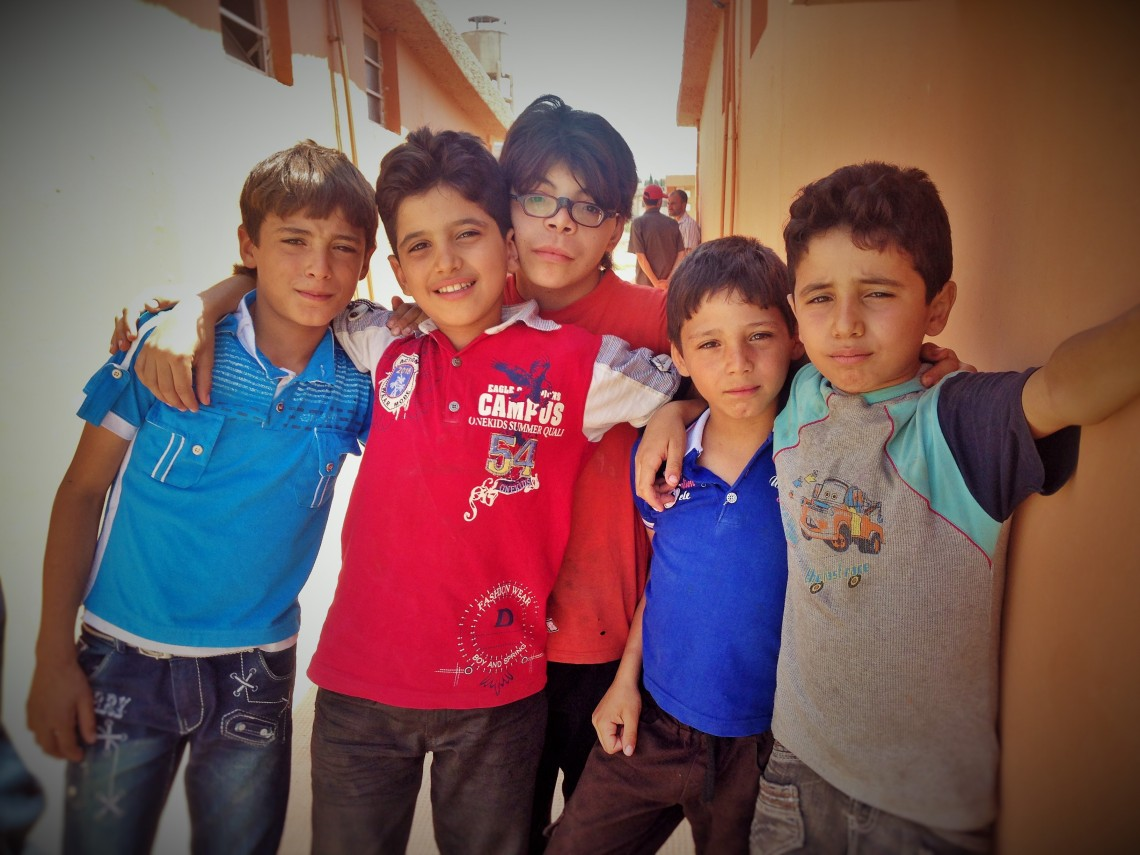 Mohammed with his friends