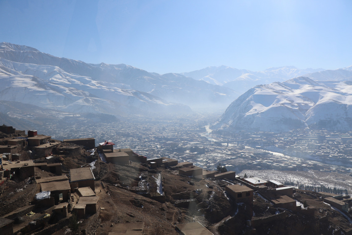 The view from Mohammad Azam's house high in the mountains of Badakhshan province. Mohammad Masoud Samimi/ICRC