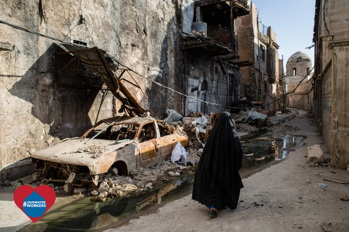 Fighting in Mosul heavily damaged water systems and other essential infrastructure. It will take years to rehabilitate them. Khalid HAWRE/ICRC