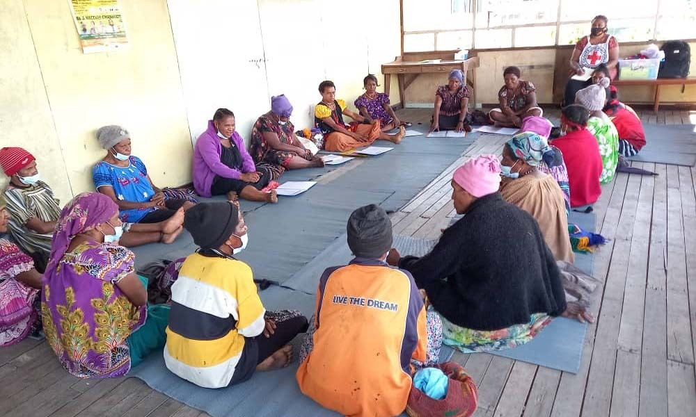 Participants from the Community Group Support Session program in Pureni Health Centre - South Koroba, Koroba-Kopiago District, Southern Highlands