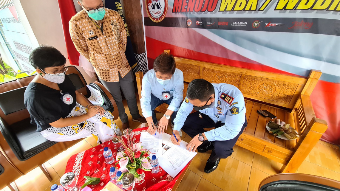 Hygiene and protection kits were distributed to 113 prisons in 13 provinces in major islands in Indonesia