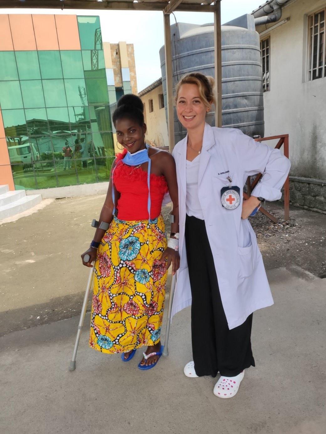 L'une des principales préoccupations de Carina est d'aider ses patients à reprendre une vie aussi normale que possible.