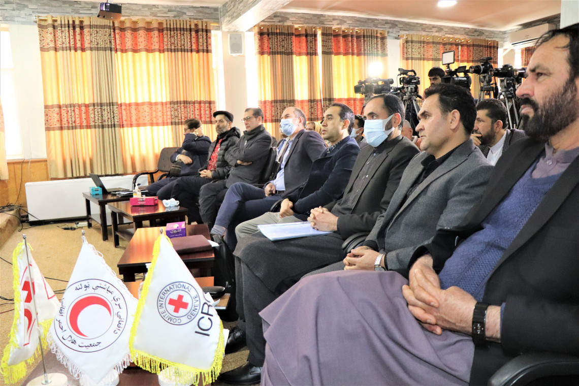The conference hall in which many national media and guests were invited. Masoud Samimi/ICRC