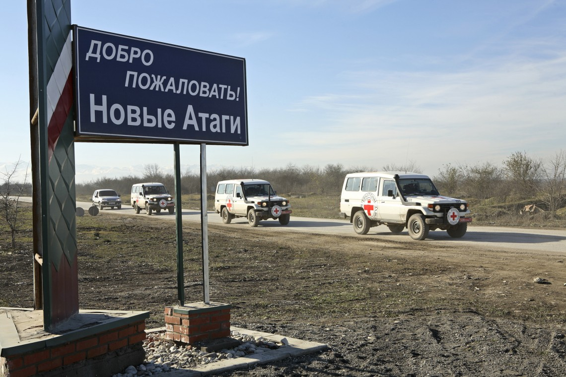 Новые Атаги. Машины МККК, декабрь 2006 г.