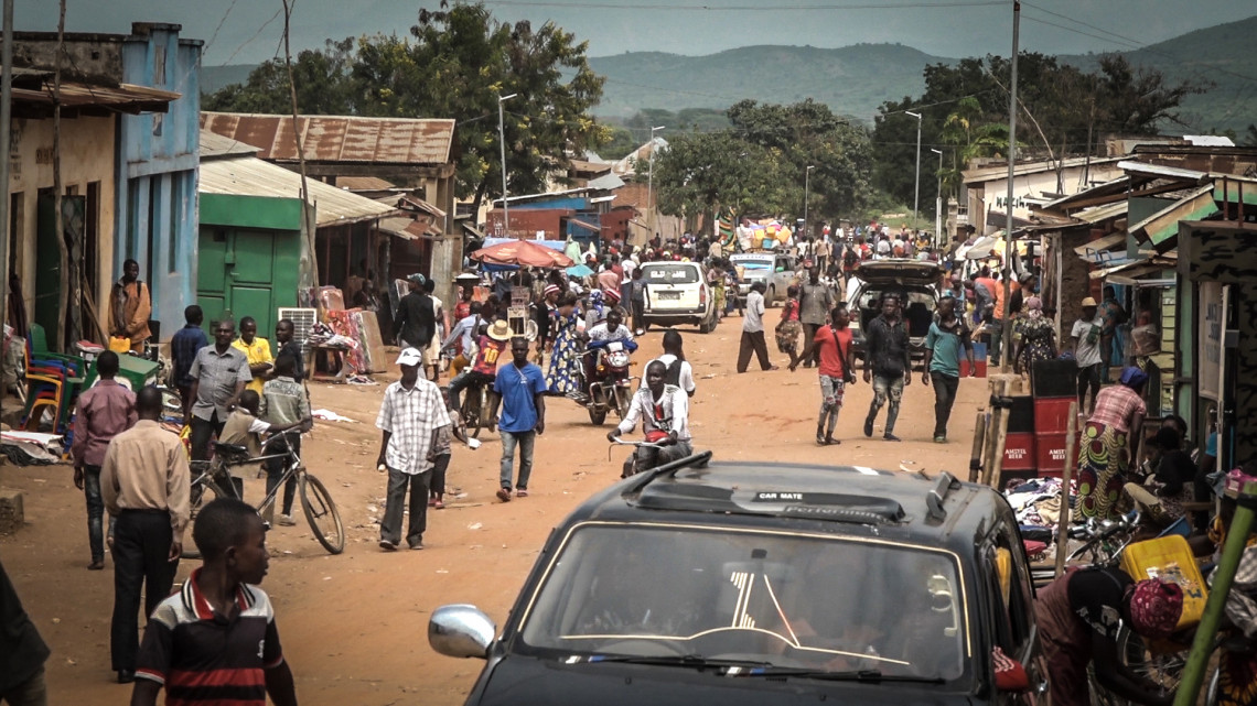La ville de Sange, dans la plaine du Ruzizi, dans la région du Sud-Kivu.