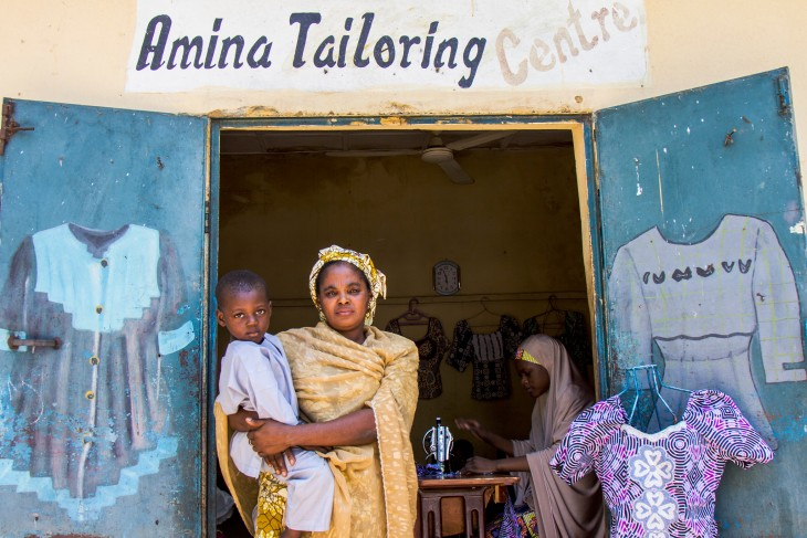 Maiduguri, Nigeria. Thanks to an ICRC business grant, Amina Lawan now has her own tailoring centre in Maiduguri and earns enough money to pay for her children's health and school fees.