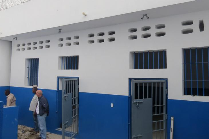 Los Cayos Prison, Port-au-Prince, Haiti. Women's accommodation built by the ICRC.