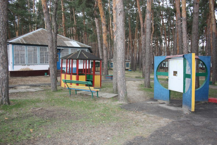 Staff who have relocated from Lugansk to Starobilsk are living in the summer camp for children that the power company owns.