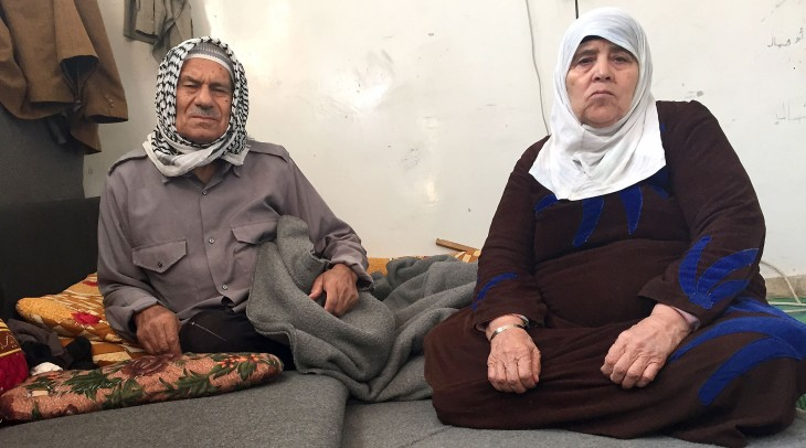 Syria crisis, Winter. Um and Abu Mohammed displaced in Kessweh, rural Damascus