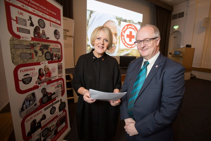 Sharon Sinclair, NI Operations Director, British Red Cross, and Tom Horwell, Vice Chair, Irish Red Cross.