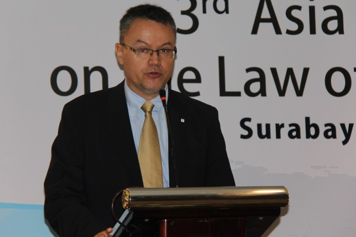 Christoph Sutter, head of the ICRC's delegation for Indonesia and Timor-Leste, highlighted the dangers of clashes in waters crossed by the world's busiest maritime trade route.