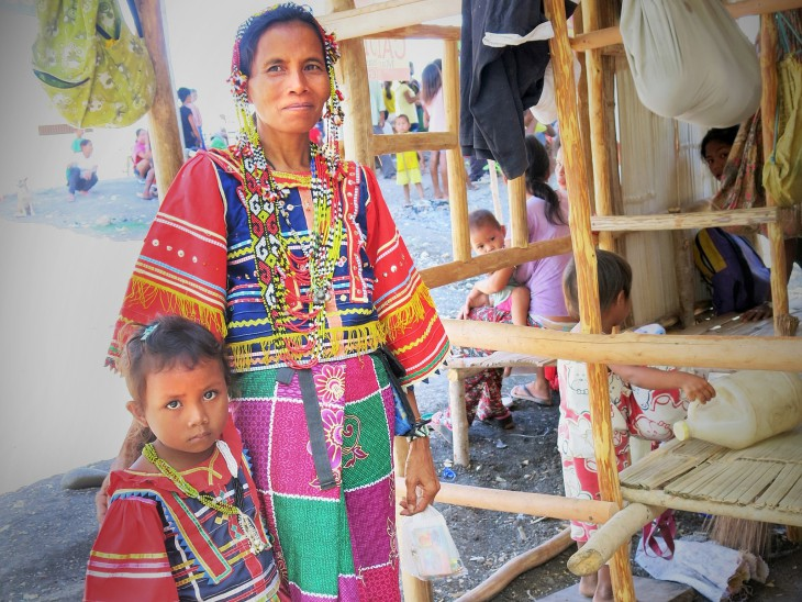 Manobo woman and child