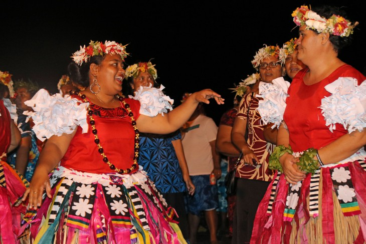 Tuvalu. Women perform a traditional dance as the community of Tuvalu joins in the celebrations. CC BY-NC-ND / ICRC
