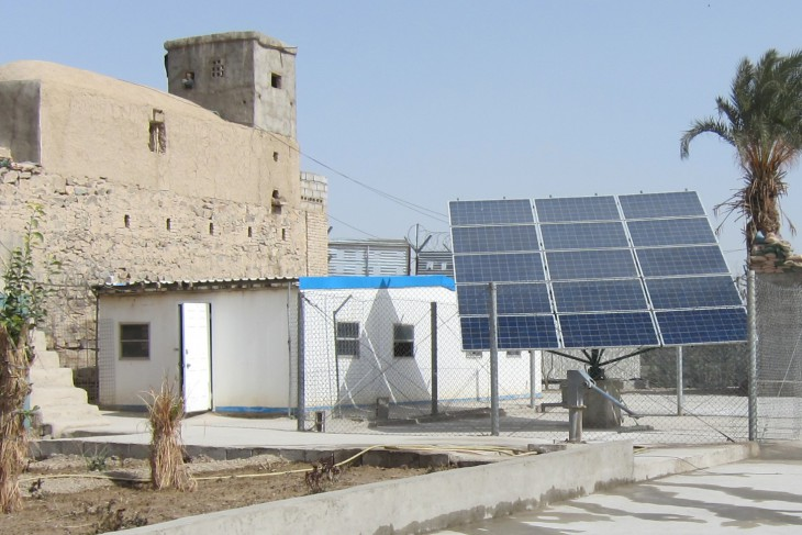 Farah Provincial Prison, Farah Province, Afghanistan. The new solar water pumping system.