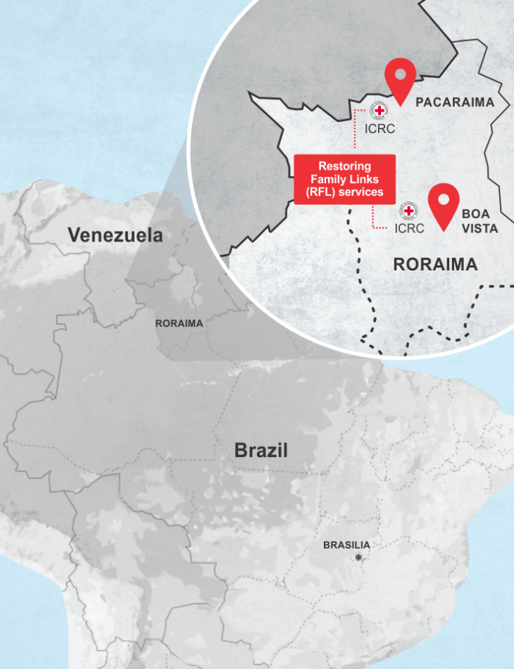 ICRC's services in Roraima, border state with Venezuela