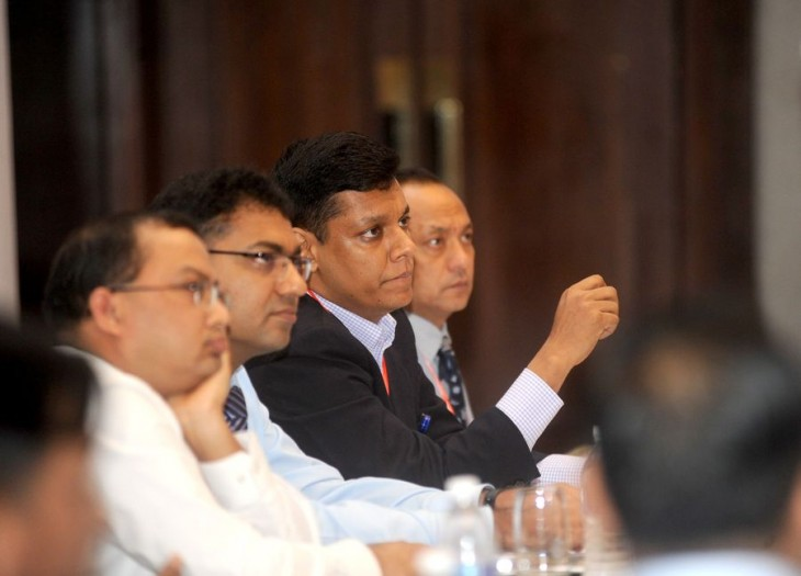 Members of the armed forces of Nepal and Bangladesh attending the sessions. ©ICRC